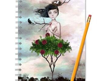 Art Journal | Sketchbook | Journal notebook | A5 Notebook | Lined Journal | Blank notebook | Writing journal | Spiral notebook