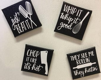 Set of 4 Kitchen Magnets