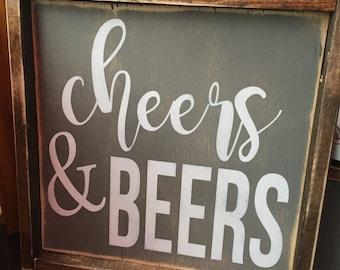 Cheers & Beers sign 12x12