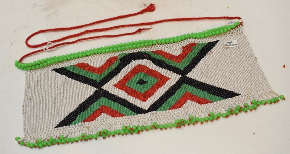 African Beaded Apron Zulu Tribe Kenya South Africa