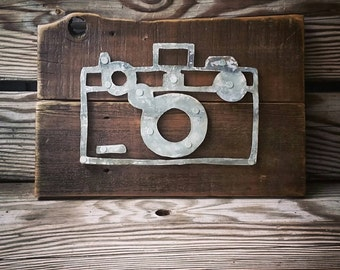 Vintage Camera Sign