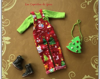Christmas bib with bag for Blythe