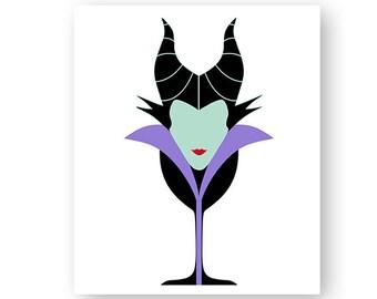 Disney, Maleficent, Sleeping Beauty, Villain, Food, Wine, Glass, Festival, Digital, Download, TShirt, Cut File, SVG, Iron on, Transfer