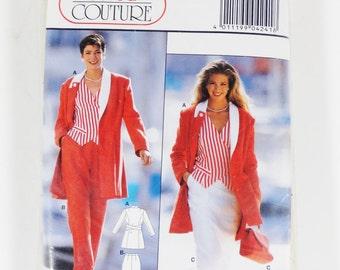 Burda Couture 4241 - Misses Suit - Sizes 10-20 - Vintage 1980s Pattern