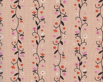 Cotton + Steel Daisy Vines Peachy, Wellsummer Fabric