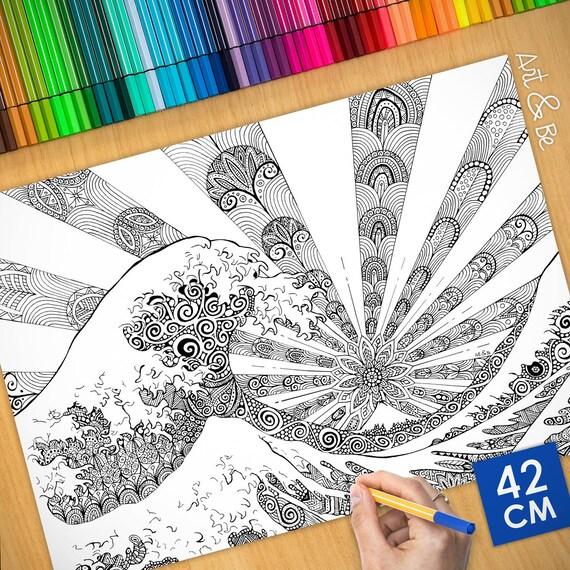 Coloring poster - KANAGAW...