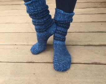 Thick hand knit socks