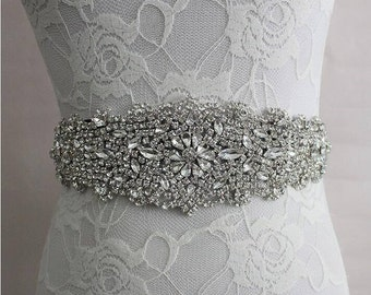 20% OFF! Rhinestone Adorned Bridal Belt/Sash