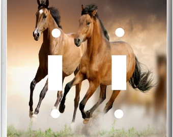 Wild Horses Running Free  Image 26  Light Switch Cover Plate or Outlet   Home Decor  Free Shipping in U.S.!!!
