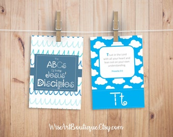 "8x10"" ABC Scripture Flashcards Printable 