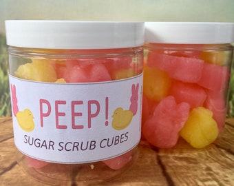 PEEP! Sugar Scrub Cubes / Easter