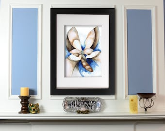 Giclee Print: Desert Moth Watercolor Painting