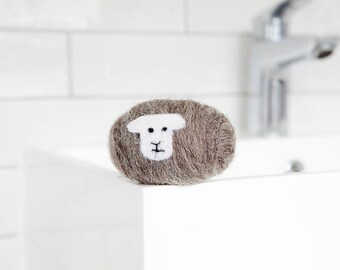 Felted soap - Herdwick sheep. Enriched with lanolin and wrapped in British wool. Naturally exfoliating and antibacterial
