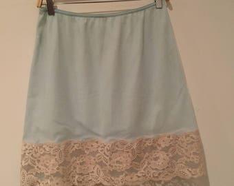 Baby blue slip skirt