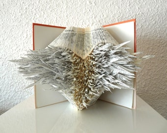 "Book Art Sculpture ""Angel Heart"""