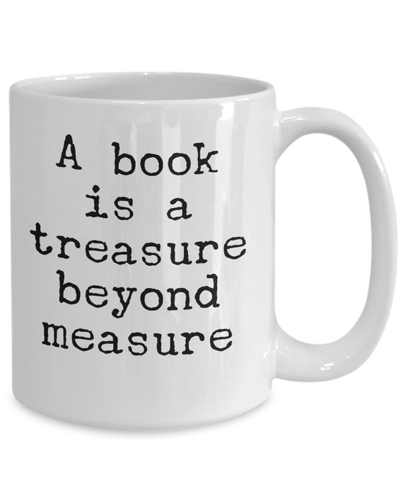 Best gifts for librarians - a book is a treasure beyond measure coffee cup - academic mug
