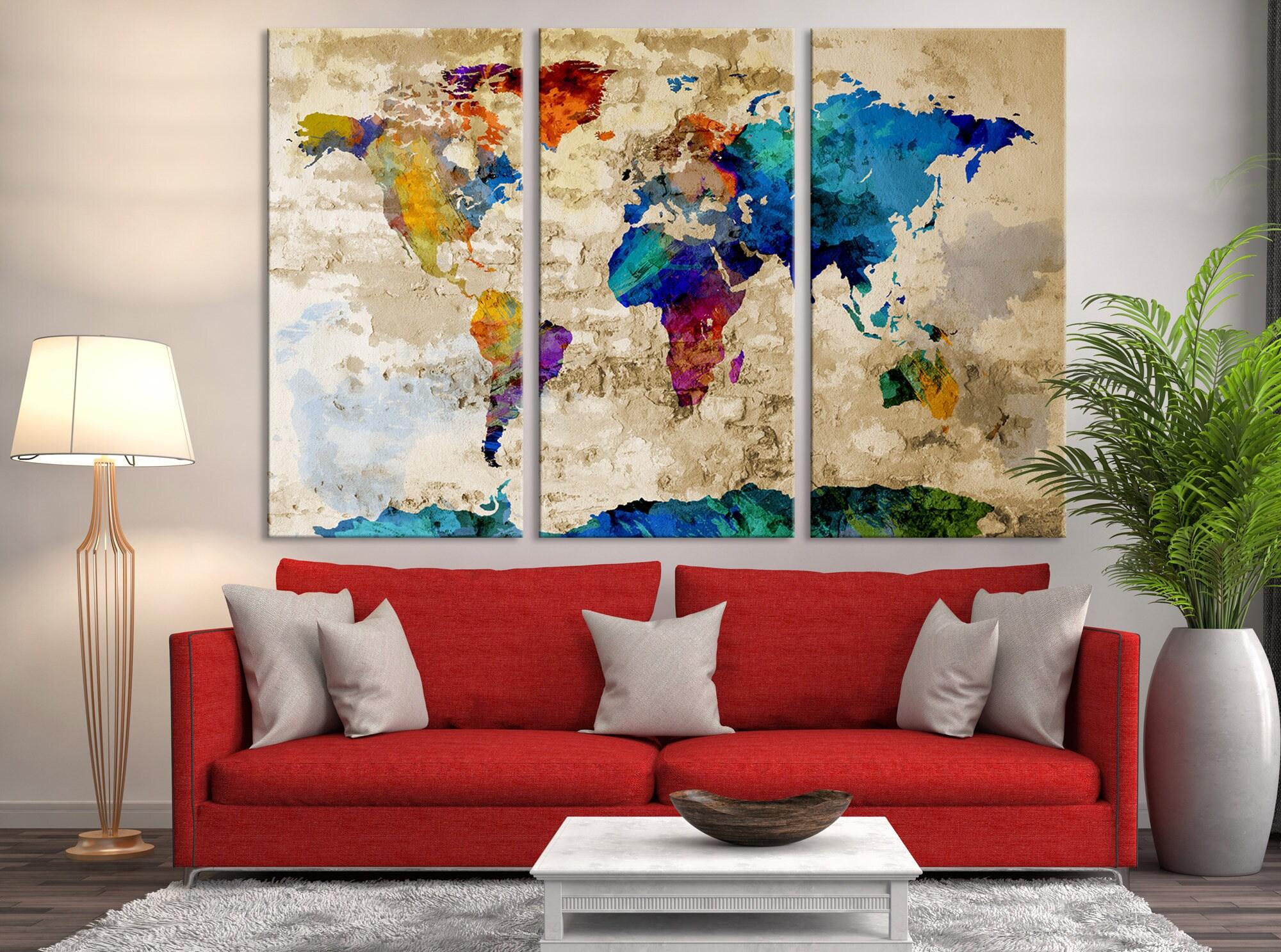 World map art print large world map world map canvas large zoom gumiabroncs Images