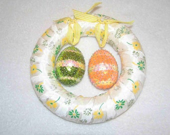 Easter: Small wreath with egg sequins