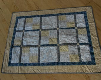 Small Blue and Cream Quilt