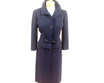 1940s Navy Blue Suit * 40s Suit * Womens Vintage Suit * Rayon Suit * 1940s Jacket * Navy Blue Blazer