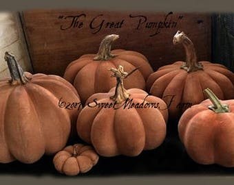 The Great Pumpkin, Brand new pumpkin epattern for fall