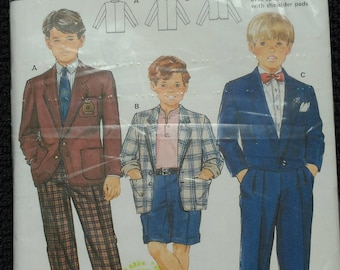 Burda Boys Suit Pattern 5457