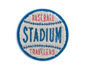 Baseball Stadium Soft Chenille Patch