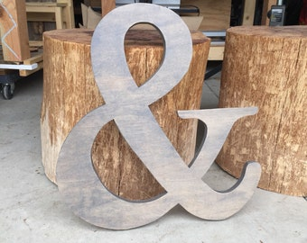 Ampersand Sign, Wedding Prop, &, And Symbol, Gallery Wall Decor, photo prop Wood Ampersand