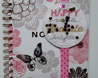 Amazing 'Happy People Sparkle Brighter' Planner Band. Planner Gifts.  Stationery.  Bookmark.  Page Marker.