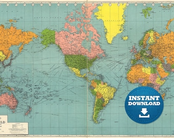 Digital old political world map 1967 instant download large digital old world map printable download vintage world map printable map large world map high resolution world map posterastralia gumiabroncs Image collections