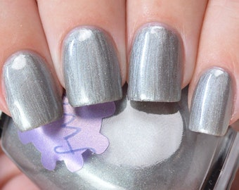 halogen - an electric grey nail polish
