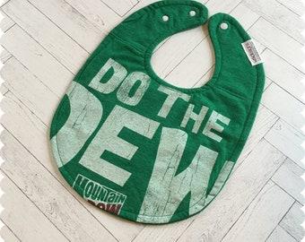Do the Dew Baby Bib, Mountain Dew Recycled T-Shirt Baby Bib, New Baby Gift, Baby Shower Gift, Funny Baby Bibs, Mountain Dew Shirt