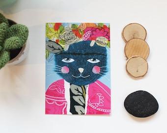 "Carte postale ""Frida Cat"", 10,5x14,7cm"