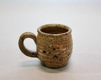 Speckled Mug,Vintage Pottery,Honeypot Mug,Matte,Coffee Mug,Tea Mug,Speckled,Ribbed Mug,Breakfast Mug,Ceramics,Drinkware, KItchenware