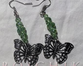 Filigree Butterfly Dangle Earrings