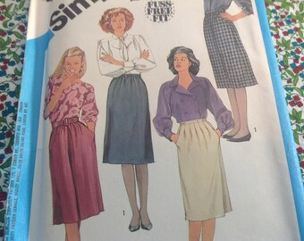 Vintage Simplicity Pattern 6527, Skirt Pattern, Various Skirt Pattern, Uncut Pattern, Size 14 Skirt Pattern, Basic Skirt Pattern
