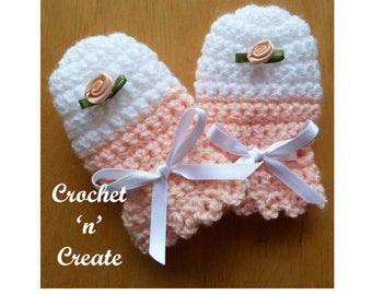Scratch Mitts Baby Crochet Pattern (DOWNLOAD) CNC16