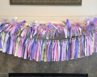 Spring Home Decorations - Fast Shipping  - Spring Home Decoration - Spring Garland - Easter Mantle Garland - Easter Ribbon Banner -