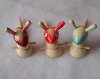 Vintage Cheese Mice Skewers