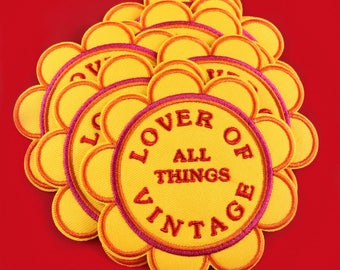 Lover of All Things Vintage Iron On Patch