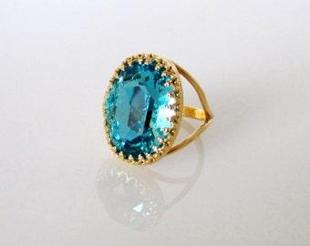 Blue Stone Gold Ring, Blue Stone Ring, Stone Ring, Blue Ring, Gold Ring,Stone Gold Ring, Gemstone Gold ring,Gemstone Ring,Gemstone Blue Ring