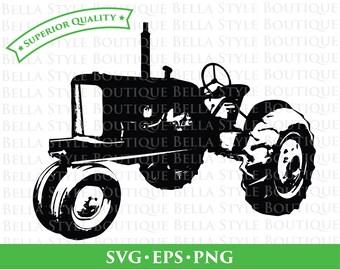 Vintage Tractor svg png eps cut file