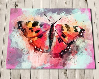 Butterfly Gifts - Butterfly Art Painting Print - Watercolour Style - Bright Wall Art - Colourful Art Print - Rainbow Butterfly Print