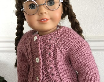 Dusty Rose Cabled Sweater for 18 inch dolls