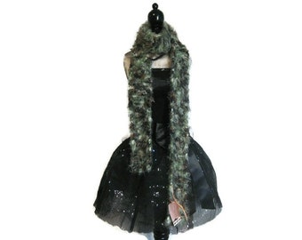"""Camo Fuzzy Knitted Scarf """"Infatuated with Camo"""""""