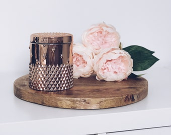 Rose Gold Rockstud Scented Soy Wax Wood Wick Candle