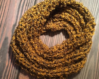 Chunky Knit Ribbed Infinity Scarf