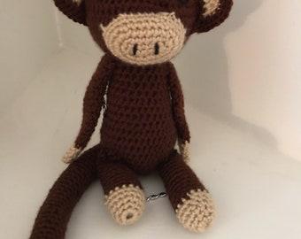 Crocheted Monkey Doll