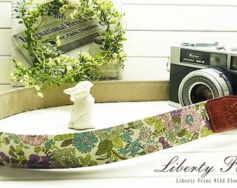 camera strap / Liberty Print / Purple Flower