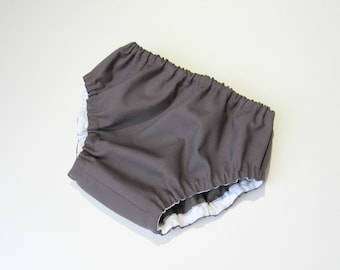 Charcoal diaper cover-Baby diaper cover-Charcoal gray bloomers-Baby boy diaper cover-Solid color baby bloomers-Baby summer clothes